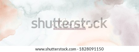 Abstract horizontal background designed with earth tone watercolor stains Foto stock ©
