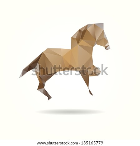 Abstract horse isolated on a white backgrounds