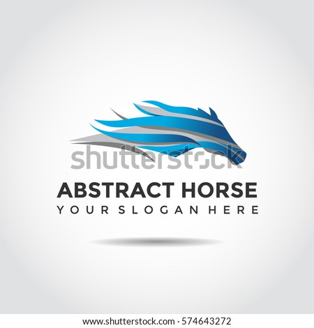 abstract horse logo template