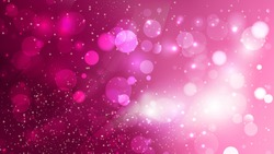 Abstract Hot Pink Blurry Lights Background