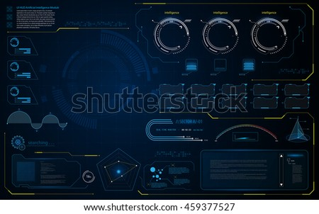 abstract HUD UI interface data diagnostics conept design template background