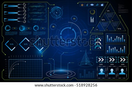 abstract HUD UI interface GUI screen virtual system info concept background