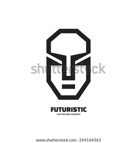abstract human face   vector