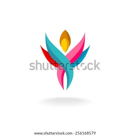 abstract human figure logo
