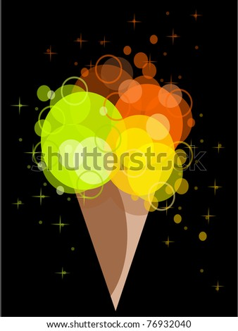 abstract ice cream