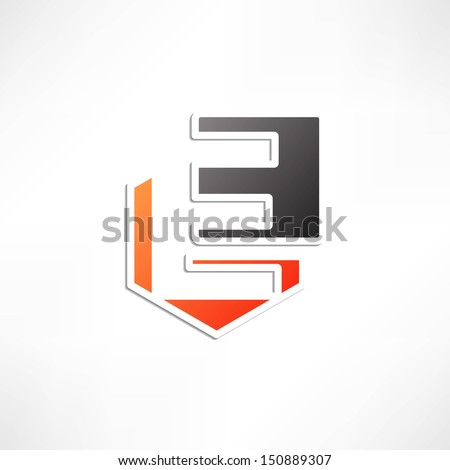 Abstract icon based on the letter e