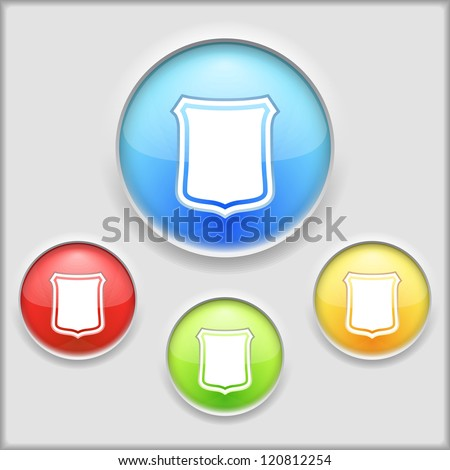 Abstract icon of a shield, vector eps10 illustration