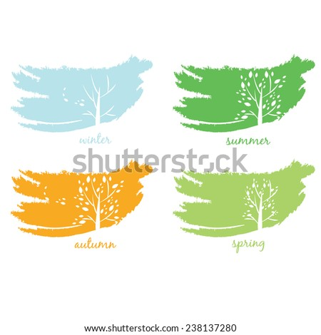 Abstract icon of tree.Vector