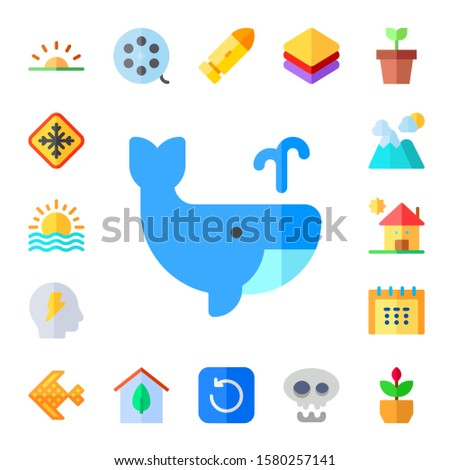 abstract icon set 17 flat