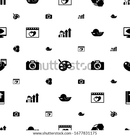 abstract icons pattern seamless. Included editable filled Business opportunity, Painting, AI Pattern, dating, Photo services, seafood icons. abstract icons for web and mobile.