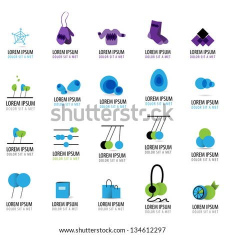 Abstract Icons - Set - Isolated On White Background - Vector Illustration, Graphic Design Editable For Your Design. Logo Symbols