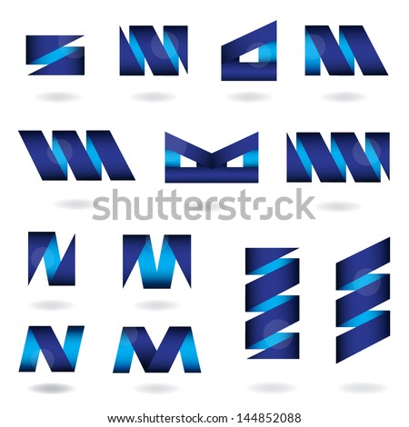 Abstract Icons Set - Isolated On White Background - Vector Illustration, Graphic Design Editable For Your Design. Abstract Logo  Stock fotó ©