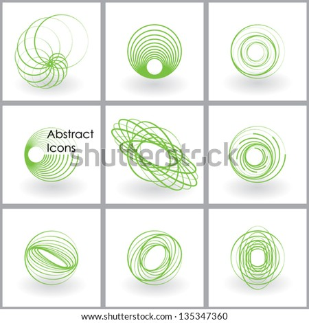 abstract icons set vector eps10