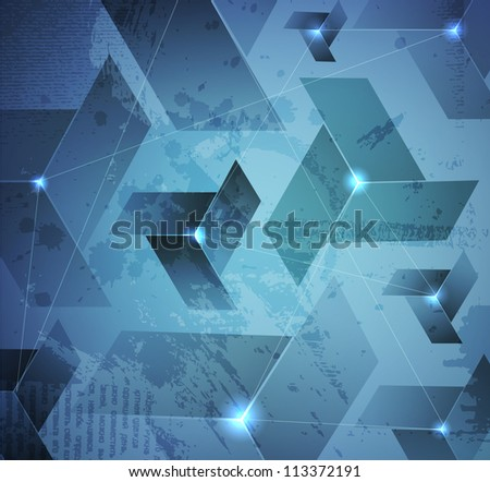 abstract illuminated vector background