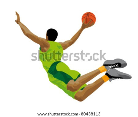 abstract illustration of a basketball player