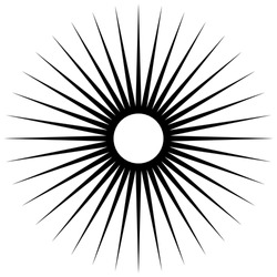 Abstract illustration of a circular pattern with radial, radiating lines.