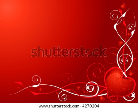 Love Heart Abstract. stock vector : Abstract illustration of a love heart on a red and maroon