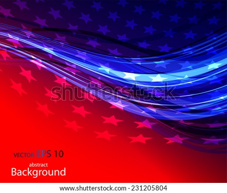 Abstract illustration of American flag