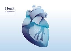 Abstract illustration of anatomical human heart