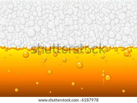 Abstract illustration of beer texture