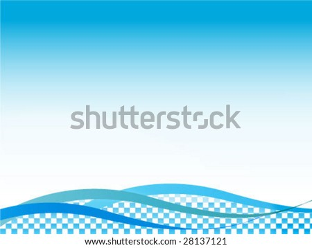 abstract illustration of blue waves making nice background