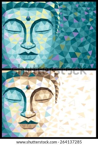 abstract illustration of buddha