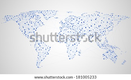 Abstract illustration of global network, EPS 8