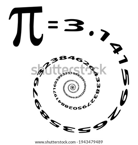 Abstract illustration of mathematical constant pi Foto stock ©