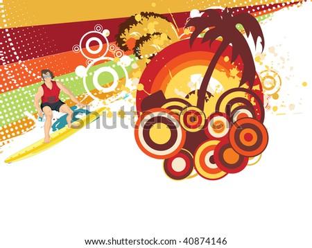 abstract illustration of summer