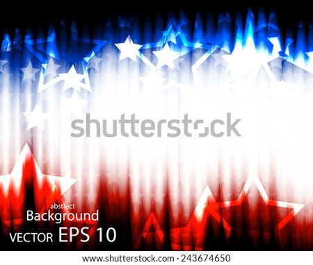 Abstract illustration of the American flag