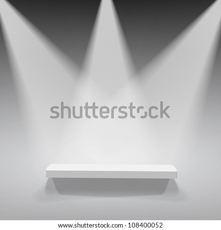 Abstract illustration of three spotlights