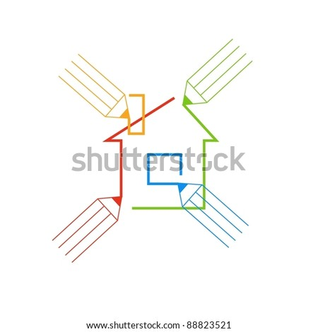 Abstract illustration. Sign concept of co-creation