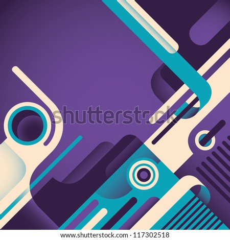 Abstract illustration with designed shapes. Vector illustration. #117302518