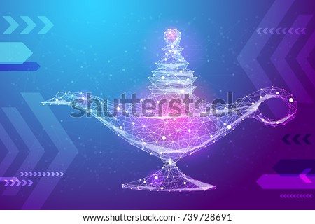 abstract image magic lamp in