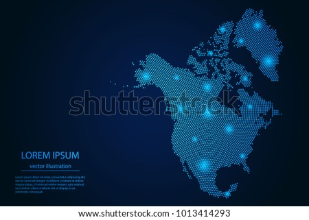 abstract image north america