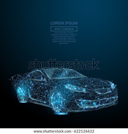 abstract image of a auto in the