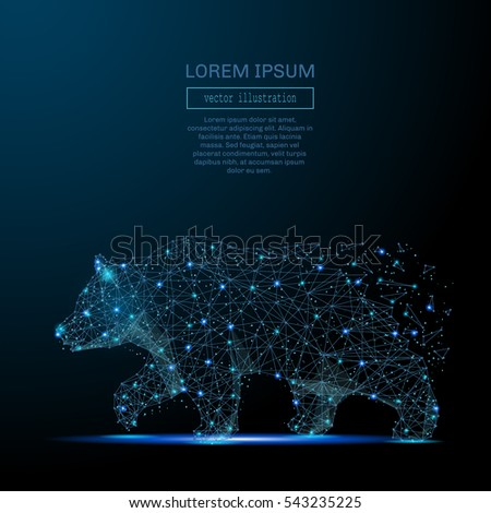 abstract image of a bear in the