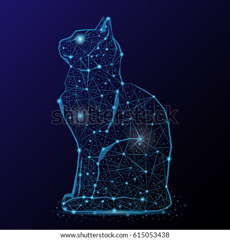 abstract image of a cat in the