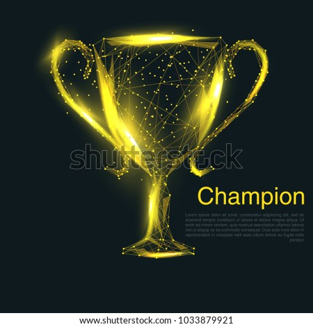 Abstract image of a champion cup