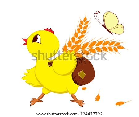 Abstract image of a chicken with wheat