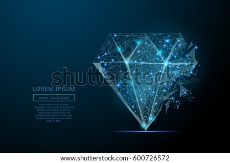 abstract image of a diamond in