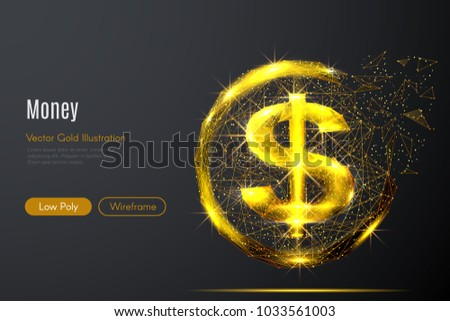 abstract image of a gold dollar