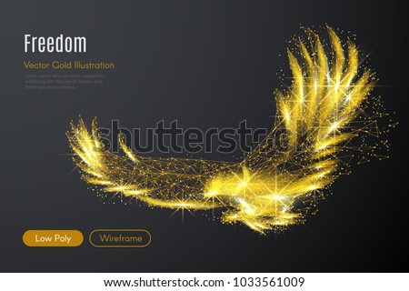 abstract image of a gold eagle