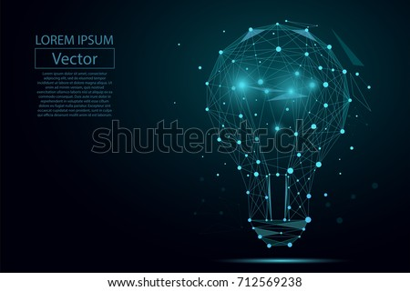 abstract image of a lamp bulb