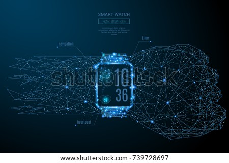 abstract image of a smart watch