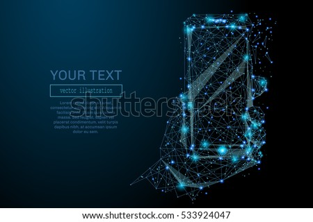abstract image of a smartphone