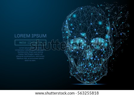 abstract image of a space skull