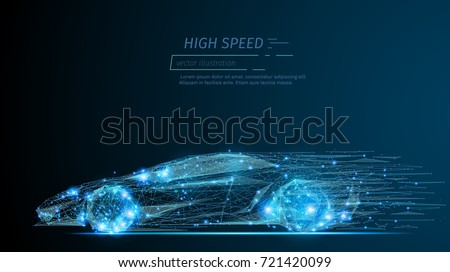abstract image of a sport car