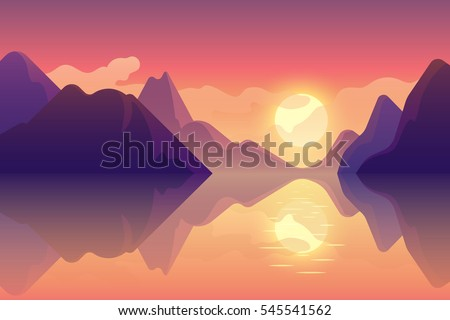 abstract image of a sunset or