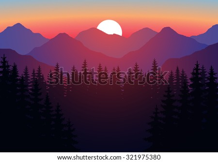 abstract image of a sunset  the